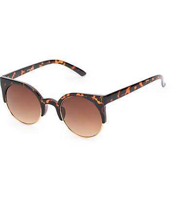 Metal Moon Tortoise Sunglasses