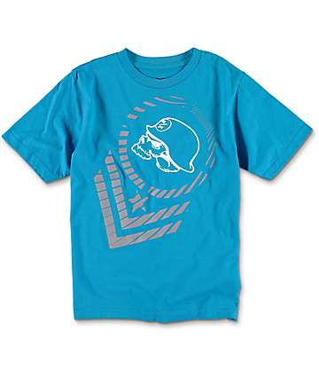 Metal Mulisha Portion Tour Boys Blue T-Shirt