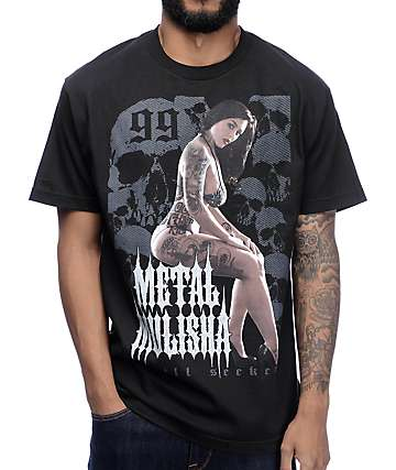 Metal Mulisha Stacked Black T-Shirt