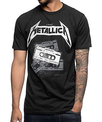 Metallica Tour Vintage Black T-Shirt