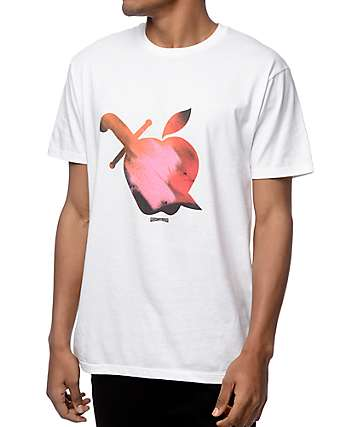 Mighty Healthy Apple Paint camiseta blanca