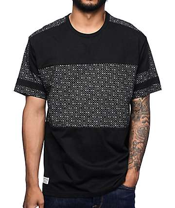 Mighty Healthy Geometric Black T-Shirt