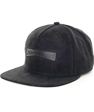 Mighty Healthy Lisse Black Strapback Hat