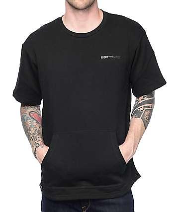 Mighty Healthy Lisse Top Short Sleeve Black Sweatshirt