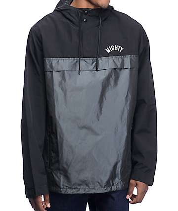 Mighty Healthy Mars Anorak Black Jacket