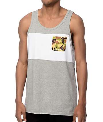 Mighty Healthy Spray Camo Tank Top