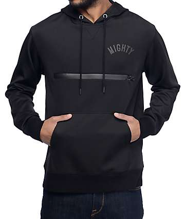 Mighty Healthy Teched Black Tech Fleece Hoodie