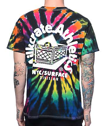 Milkcrate Athletics Mr. Smiles Black Tie Dye T-Shirt