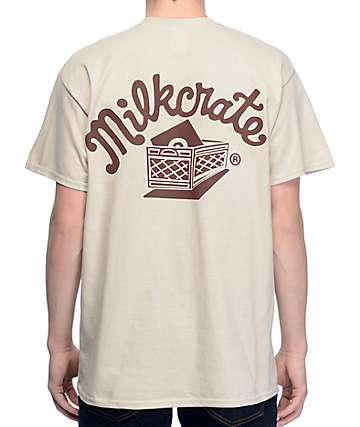 Milkcrate Athletics Tonal Logo Light Tan T-Shirt