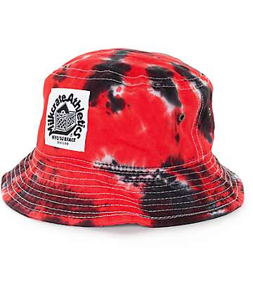 Milkcrate Red, White & Black Bucket Hat