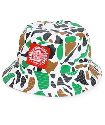 Milkcrate White Camo Bucket Hat