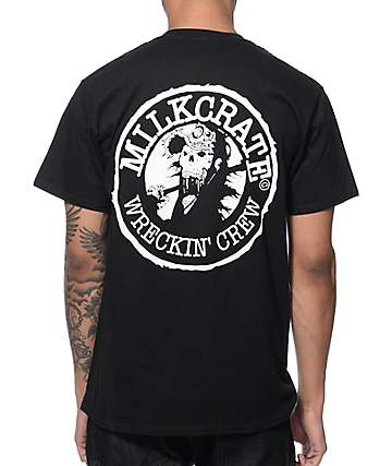 Milkcrate Wrecking Crew Black T-Shirt