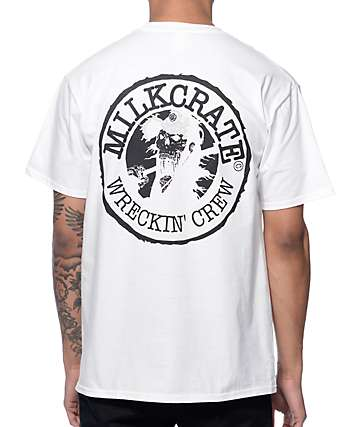 Milkcrate Wrecking Crew White T-Shirt
