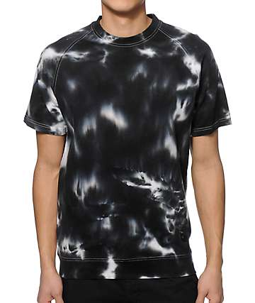 Mishka Crushed Tie Dye Short Sleeve Crew Neck Sweatshirt