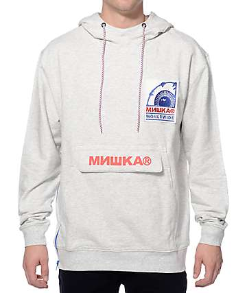 Mishka Heritage Keep Watch Cloak Grey Hoodie