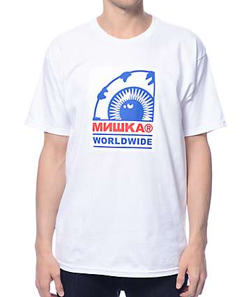 Mishka Keep Watch Worldwide White T-Shirt