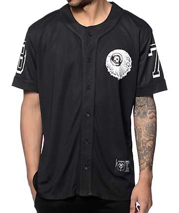 Mishka Lamour Keep Watch Black Baseball Jersey