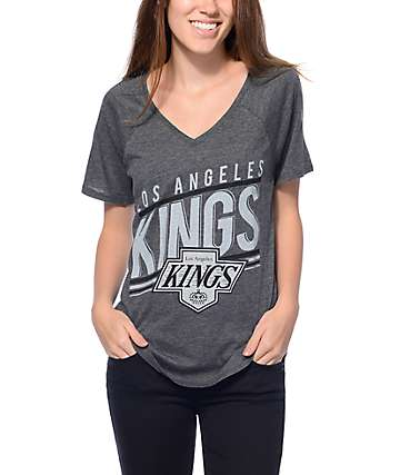 Mitchell & Ness LA Kings Black V-Neck T-Shirt