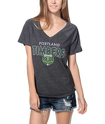 Mitchell & Ness Portland Timbers V-Neck T-Shirt