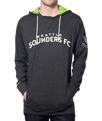 Mitchell & Ness Seattle Sounders Away Grey Pullover Hoodie