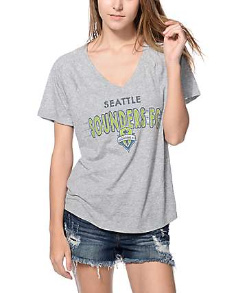 Mitchell & Ness Seattle Sounders V-Neck T-Shirt