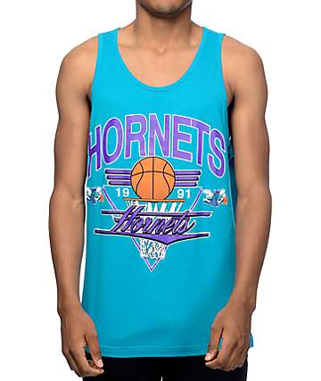 Mitchell and Ness Charlotte Hornets Winning Shot Teal Tank Top