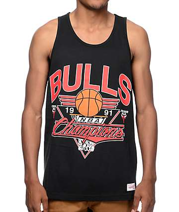 Mitchell and Ness Chicago Bulls Winning Shot Black Tank Top