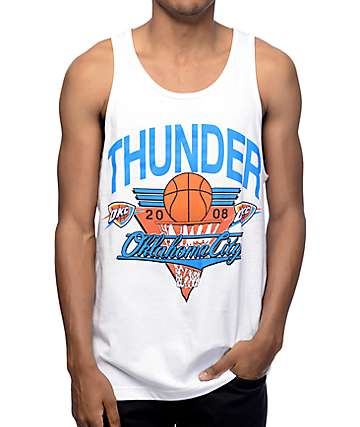 Mitchell and Ness Oklahoma City Thunder Winning Shot White Tank Top