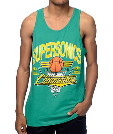 Mitchell and Ness Seattle Super Sonics Winning Shot Green Tank Top
