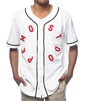 Most Dope White Baseball Jersey