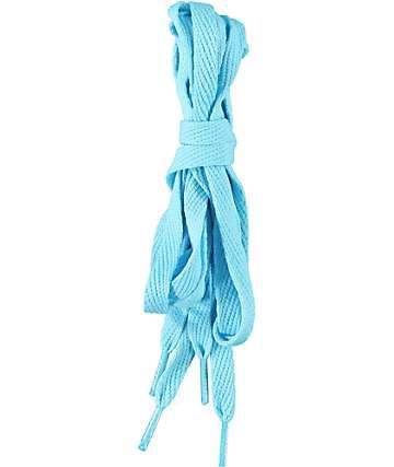 Mr. Lacy Flatties Aqua Blue Shoe Laces