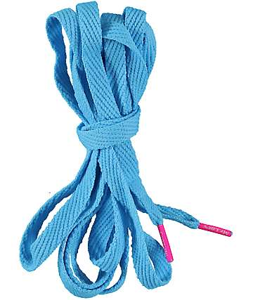 Mr. Lacy Flatties Mellow Blue & Neon Pink Shoe Laces