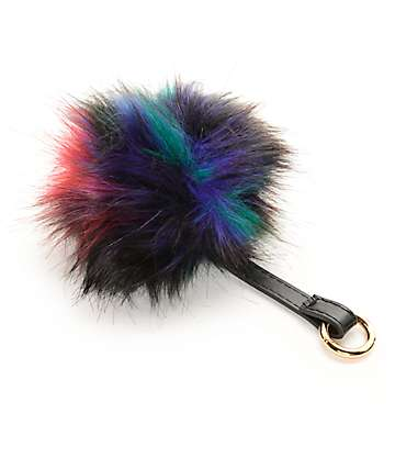 Multi Color Fuzzy Bag Charm