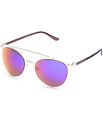 Muse All Metal Rose Gold Retro Sunglasses