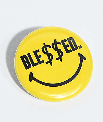 N°Hours Ble$$ed Smiley Yellow Button