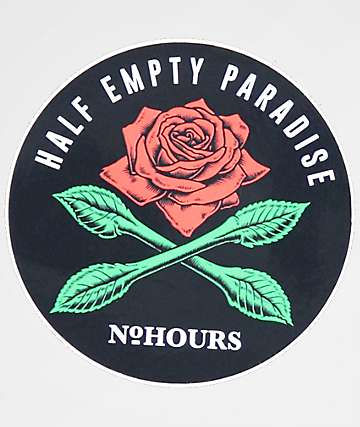 N°Hours Half Empty Paradise Sticker