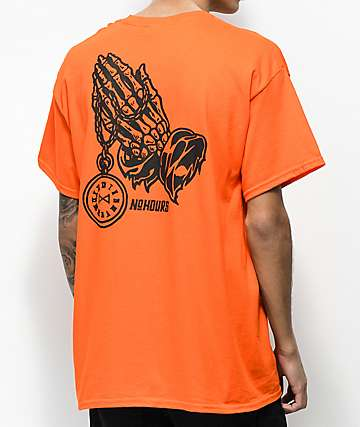 N°Hours Pray Orange T-Shirt