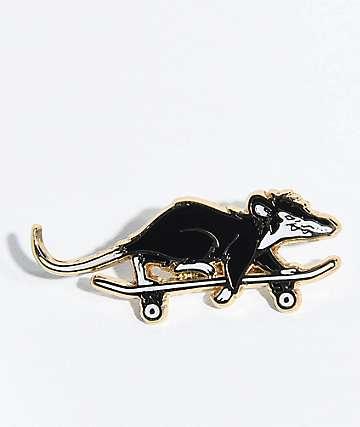 N°Hours Skate Rat Black & Gold Pin