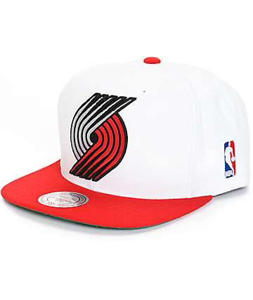 NBA Mitchell and Ness Blazers XL Logo 2 Snapback Hat
