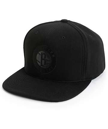 NBA Mitchell and Ness Nets Blacked Out Snapback Hat