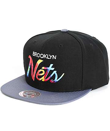 NBA Mitchell and Ness Nets Tie Dye Script Snapback Hat