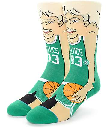 NBA Stance Bird Cartoon Crew Socks