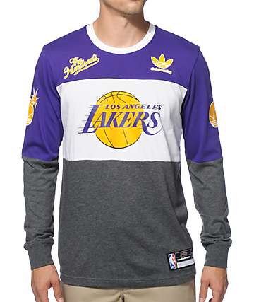 NBA adidas x The Hundreds Lakers Long Sleeve T-Shirt