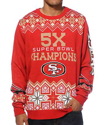 NFL Forever Collectibles 49ers Super Bowl Sweater