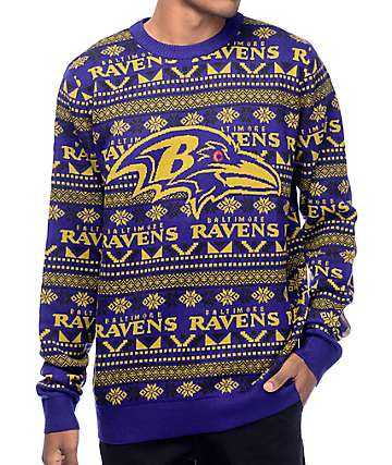 NFL Forever Collectibles Baltimore Ravens Aztec Ugly Sweater