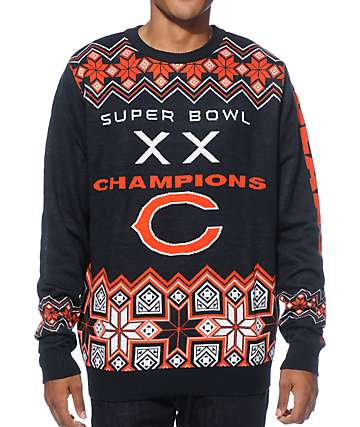 NFL Forever Collectibles Bears Super Bowl Sweater