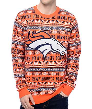 NFL Forever Collectibles Broncos Aztec Ugly Sweater