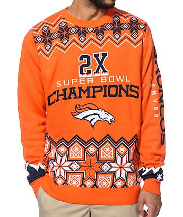 NFL Forever Collectibles Broncos Super Bowl Sweater