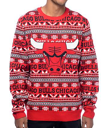 NFL Forever Collectibles Chicago Bulls Aztec Ugly Sweater