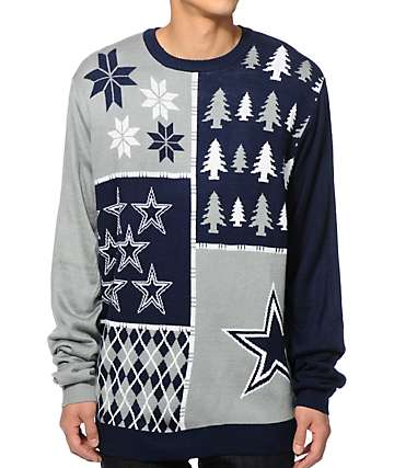NFL Forever Collectibles Cowboys Busy Block Sweater